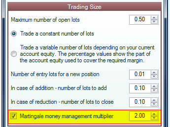 Martingale forex money management