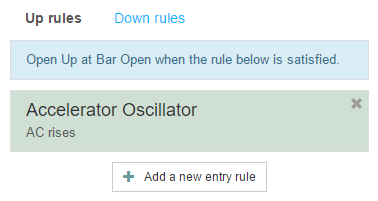 One entry rule
