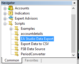 Data export script
