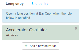 One long entry rule