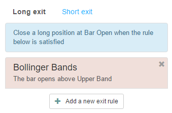 One long exit rule