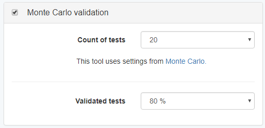 Monte Carlo Validation