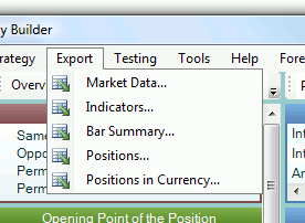 Export forex data for all currencies