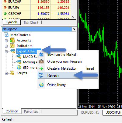 What code is generated by quant strategy generator forex