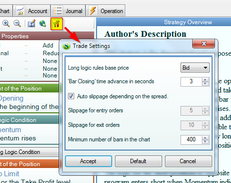 Forex open related orders dialog after trade